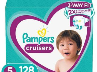 Pampers Cruisers Disposable Diapers One Month Supply   Size 5  128ct