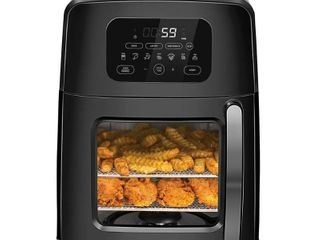 Chefman Turbofry Air Oven with Auto Stir Function   Black
