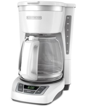 BlACK DECKER 12 Cup  Programmable Coffeemaker  White  CM1160W
