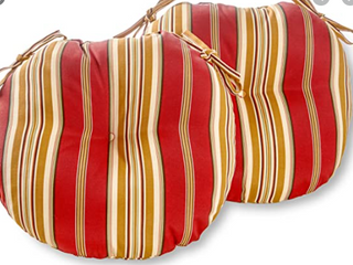 Set of 2 Outdoor Cushion Set Greendale DP Red Offwht