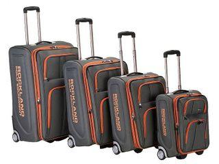 Rockland luggage Varsity 4 Piece Softside Expandable luggage Set