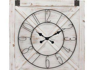 Firstime   Co 29  x 27  Farmstead Barn Door Wall Clock