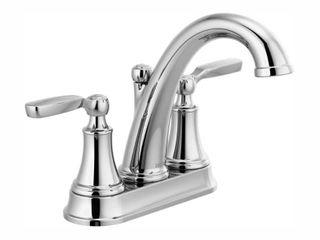 Delta 2532lF MPU Woodhurst 6 5 8  Two Handle Centerset Bathroom Sink Faucet In Chrome