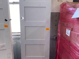5 Panel Primed Door  White 96in x27in 11 16 x 1in 3 8 4 Hinge
