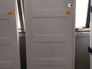 5 Panel Framed Primed Door  White 96in x 33 in 3 8 x 4 in 9 16