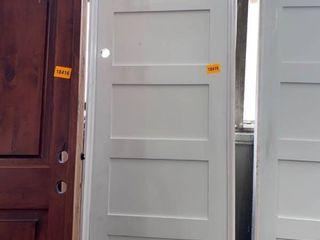 5 Panel Framed Primed Door  White 96in x 33 in 1 2 x 4in 9 16