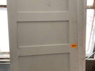 5  Panel Primed Door  White   Set of 5   Dimensions  96in x 36in x 1in 3 8