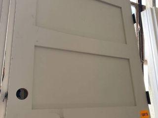 Set of 5  5 Panel Primed Door  White  Dimensions  96in x35in 3 4 x 1in 3 8