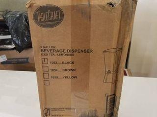 Tablecraft Black 5 Gallon Plastic Beverage Dispenser   Cold Drink Dispenser for Catering  Buffet or Restaurant Use