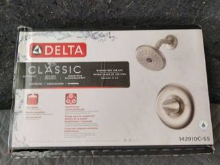 Delta Classic 1 handle Shower Faucet With Valve In Brushed Nickel 142910c ss