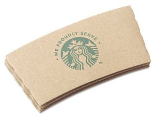 Starbucks SBK11020575 We Proudly Serve Hot Cup Sleeves