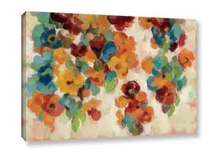 Silvia Vassileva s  Spice and Turquoise Florals  Gallery Wrapped Canvas Retail   84 49
