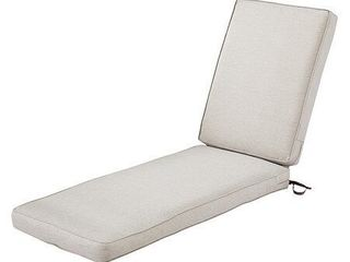 Classic Accessories Montlake Water Resistant 80 x 26 x 3 Inch Patio Chaise lounge Cushion  Heather Grey