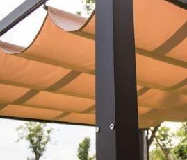 Kinbor Garden Gazebo Pergola Trellis Outdoor Retractable Shade Canopy Retail   385 99