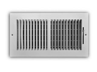 Everbilt 12 in  x 6 in  2 Way Aluminum Wall Ceiling Register  Powder Coat White