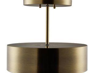 Southern Enterprises Geane 1 light Brass Semi Flush Mount Pendant lamp