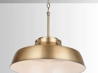 1 light Aged Brass Pendant Fixture   Aged Brass