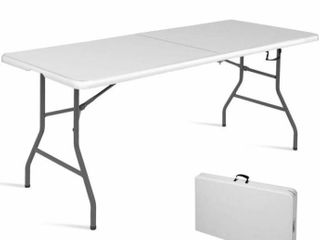 6  Folding Table Portable Plastic Indoor Outdoor Picnic Party Dining Camp Table