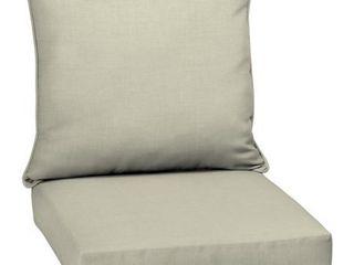 Arden Selections Tan Outdoor Deep Seat Cushion  1Set