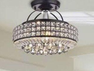 JoJo Spring intertek Black chandelier