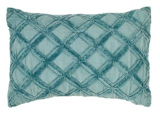 Tommy Bahama 1 Piece Chenille Diamond Blue 20 in  x 14 in  Throw Pillow