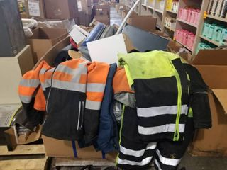 lOT OF FIREFIGHTERS JACKETS AND BOOTS