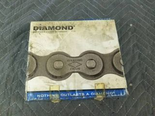 Diamond X 1282 010 35 Riv Transmission Roller Chain 10 ft 3 8 In  Pitch
