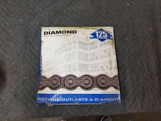 Diamond X 1233 010 10 Feet 60 Riveted Roller Chain 3 4  Pitch 0 469 Roller