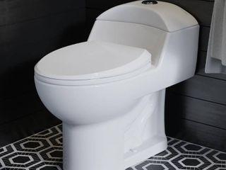 Swiss Madison SM 1T803 White Chateau 0 8 1 28 Gpf One Piece Elongated Dual Flush Toilet