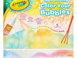 Crayola 5 Piece Spray and Play Color Your Bubbles Bubble Bath Set