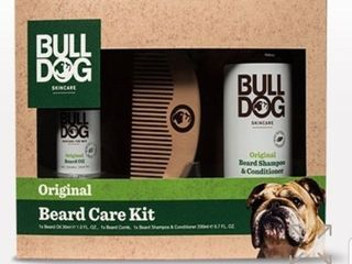 Bull Dog Beard Care Kit Skincare W Beard Oil Shampoo Conditioner Comb Gift  r