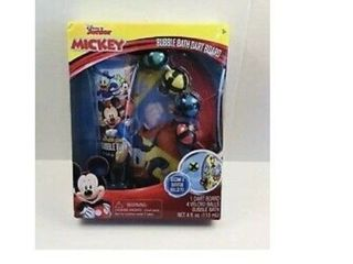 Disney Junior Mickey Bath Time Bubble Bath Dart Ball Set Bath Time Fun Box Set