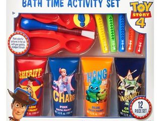 Disney Pixar Toy Story 4 12 Piece Bath Time Paint and Crayon Activity Set