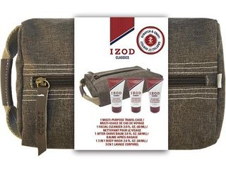 IZOD Mens Classics 4 pc  Travel Case Set One Size Multi