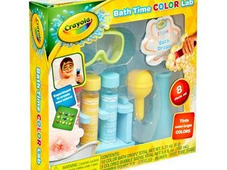 Crayola 8 Piece Bath Time Color lab Bubble Bath Play Set