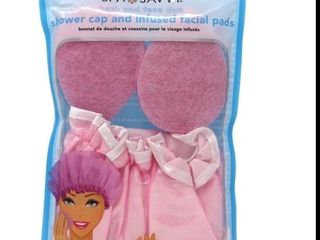 SPA SAVVY SHOWER CAP AND INFUSED FACIAl PADS