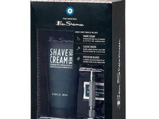 Men s Ben Sherman Shaving Set 3 Pieces Shave Cream  Razor   6 Blades Kit
