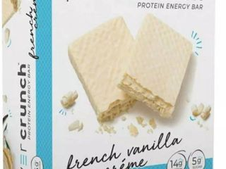 Power Crunch Pro 20g Protein Energy Wafer Bar, 4 Bars French Vanilla Creme EXP 06/21 RETAIL $10.99