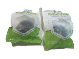 Deneve Konjac Sponges Bamboo Charcoal Two Packages Sealed