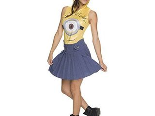 Women's Minions Movie: Minion Face Adult Costume Dress - Medium