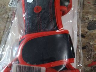 Hard out Red Training Gloves large
