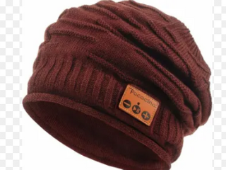 Battop Burgandy Music Hat Bluetooth