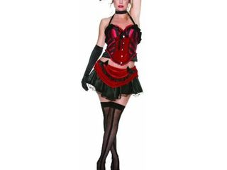 Delicious Femme Fatale Costume  Black Red  X Small