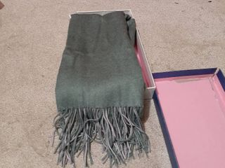Cashmere Blend Green and Grey Pashmina
