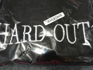 Hard Out black sports towel