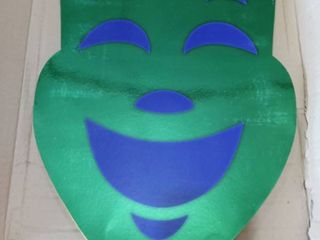 Beistle 55152 24-pack Foil Comedy And Tragedy Faces, 12-1/2 By 18-inch Gold & 12 Green