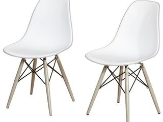 Elba Dining Chair  Set Of 2    White   Gray