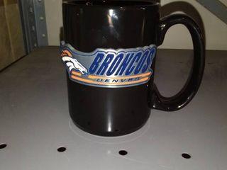 NFL Denver Broncos Two Piece Black Ceramic Mug Set