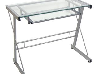 Walker Edison Solo Glass Computer Desk