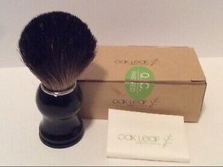 2-Oak Leaf design for green life Barber shaving cream brush black handle